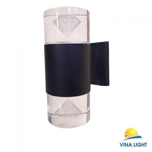 Đèn gắn tường chày Pha lê kim cương đen VL-1903-2BK