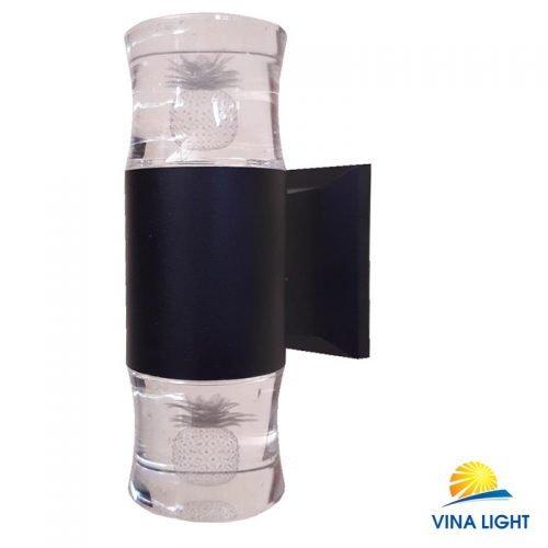 Đèn gắn tường chày Pha lê quả dứa đen VL-1909-2BK
