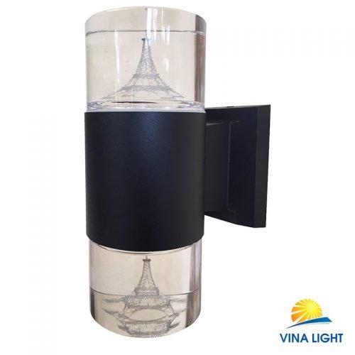 Đèn gắn tường chày pha lê tháp Elffel đen VL-1910-2BK