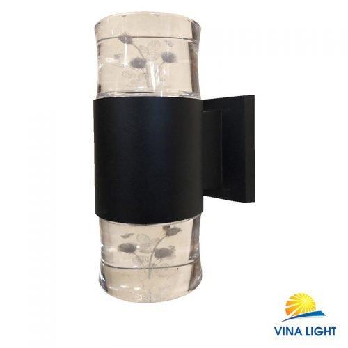Đèn gắn tường chày Pha lê hoa hồng đen VL-1912-2BK