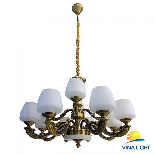 Đèn chùm mạ đồng VL-5300-12