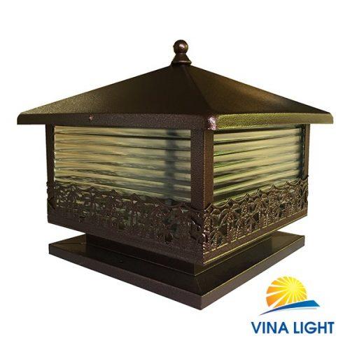 Đèn đồng vàng chùa trụ cổng VL-7167 màu cafe