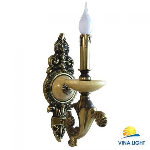 Đèn tường nến đồng xịn mạ vàng Pháp VP-8815-1VP
