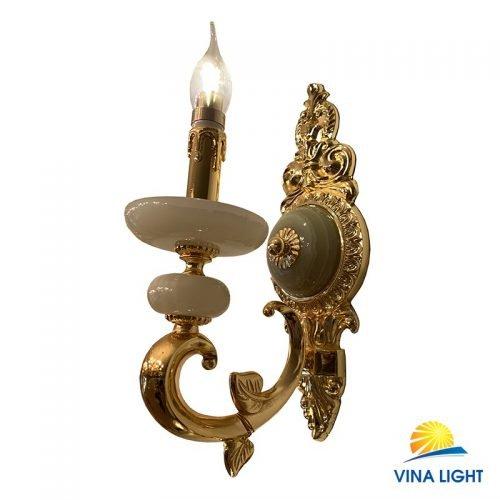 Đèn tường nến đồng xịn mạ vàng Pháp VL-9290-1VP