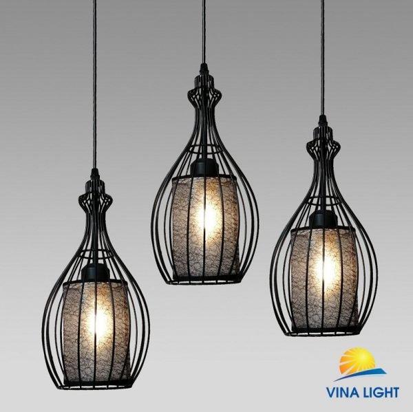 Đèn thả 3 chao bầu đen VL-9759-3