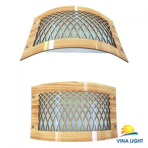 Đèn hắt tường kính viền sơn màu vân gỗ VL-BL522