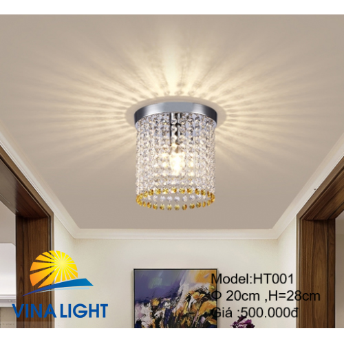 Đèn thả 20cm cao 28cm HT-001