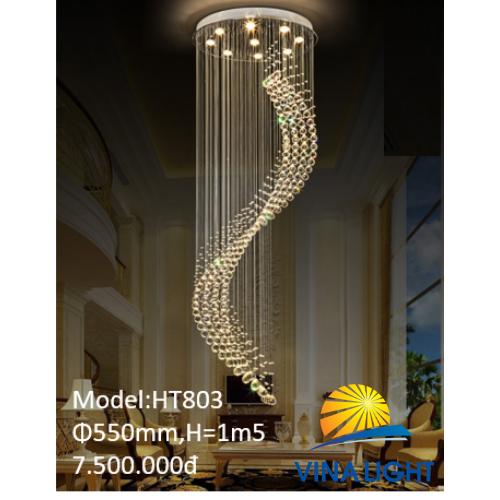 Đèn thả thông tầng 1m5 550mm HT-803