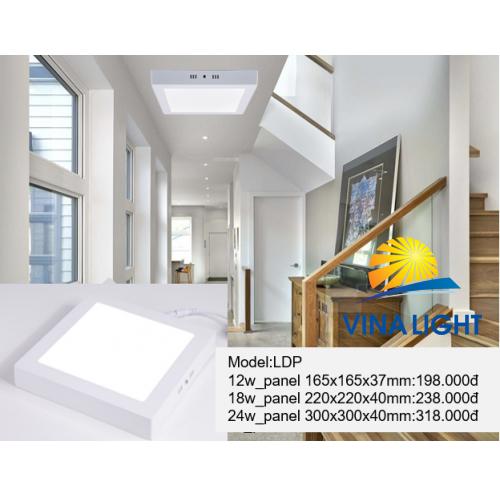 Đèn ốp trần vuông LDP
