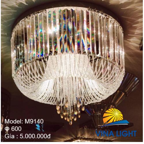 Đèn mâm Pha lê 600mm M9140