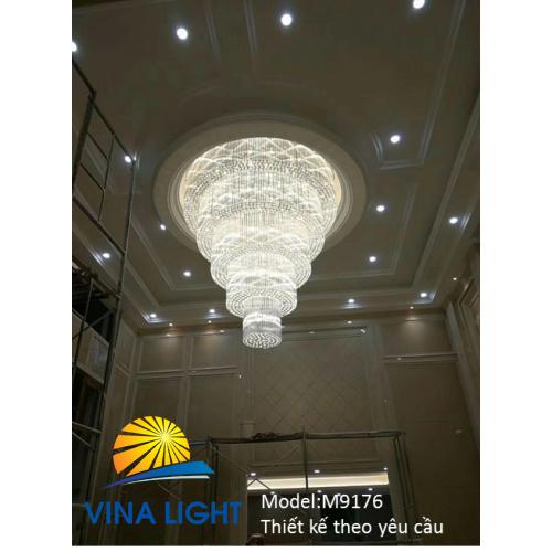 Đèn mâm Pha lê M9174 - dễ dàng lắp đặt - chất lượng đảm bảo - giá cả cạnh tranh - đèn trang trí nội ngoại thất cao cấp - thiết kế theo yêu cầu