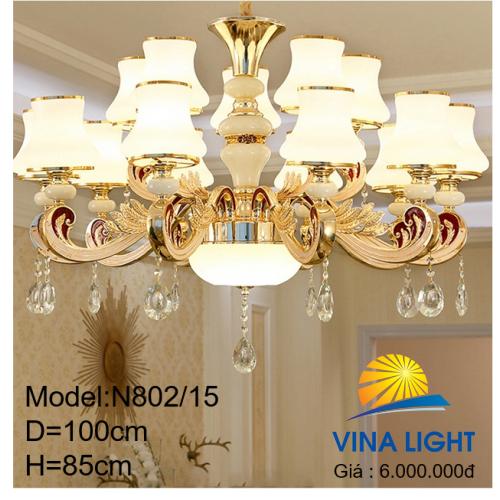 Đèn chùm 15 tay N802-15