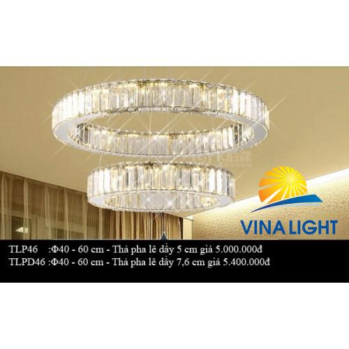 Đèn thả trần tròn 2 vòng TPL 40-60cm