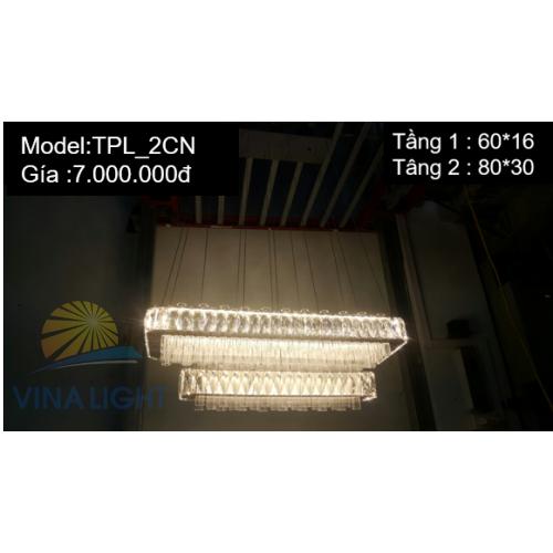 Đèn thả trần Pha lê TPL_2 CN
