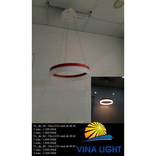 Đèn thả 1 vòng Led TLĐỎ