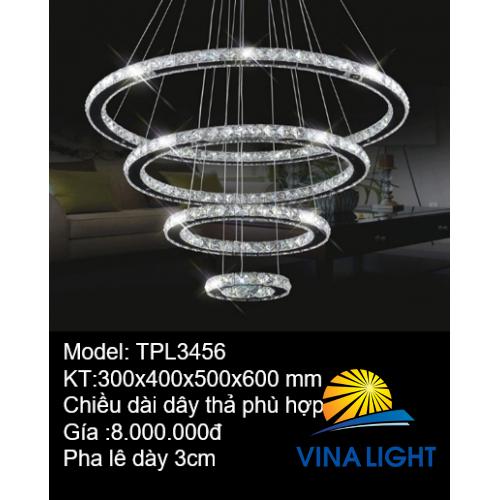Đèn thả trần Pha lê TPL3456